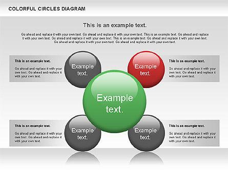 Colorful Circles Diagram, Slide 4, 00966, Shapes — PoweredTemplate.com