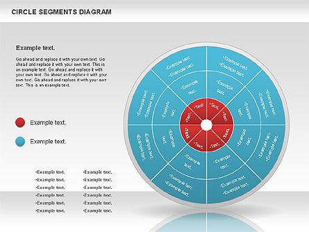 Circle Segment Diagram, Slide 10, 00967, Pie Charts — PoweredTemplate.com
