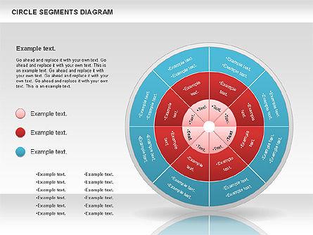 Circle Segment Diagram, Slide 11, 00967, Pie Charts — PoweredTemplate.com