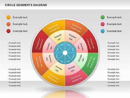Circle Segment Diagram, Slide 12, 00967, Pie Charts — PoweredTemplate.com