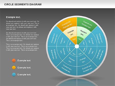 Circle Segment Diagram, Slide 13, 00967, Pie Charts — PoweredTemplate.com