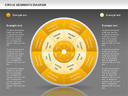 Circle Segment Diagram, Slide 14, 00967, Pie Charts — PoweredTemplate.com