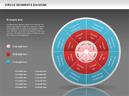Circle Segment Diagram, Slide 15, 00967, Pie Charts — PoweredTemplate.com
