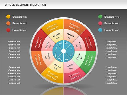 Circle Segment Diagram, Slide 16, 00967, Pie Charts — PoweredTemplate.com