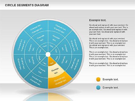 Circle Segment Diagram, Slide 5, 00967, Pie Charts — PoweredTemplate.com