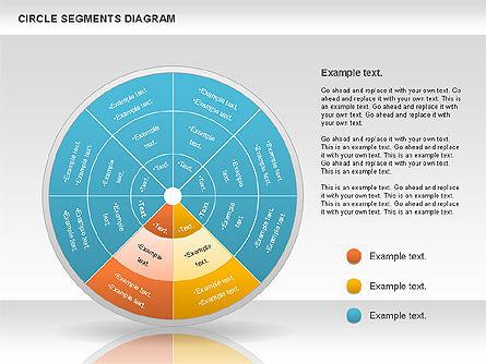 Circle Segment Diagram, Slide 6, 00967, Pie Charts — PoweredTemplate.com