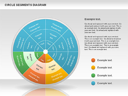 Circle Segment Diagram, Slide 7, 00967, Pie Charts — PoweredTemplate.com