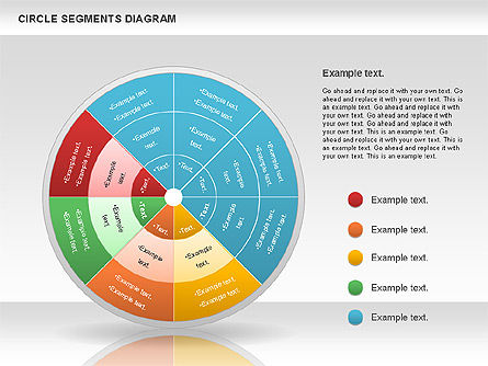 Circle Segment Diagram, Slide 8, 00967, Pie Charts — PoweredTemplate.com