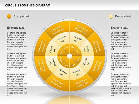 Circle Segment Diagram, Slide 9, 00967, Pie Charts — PoweredTemplate.com