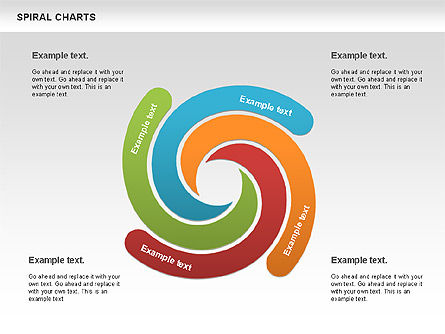 Spiral Shapes Chart, 00969, Business Models — PoweredTemplate.com