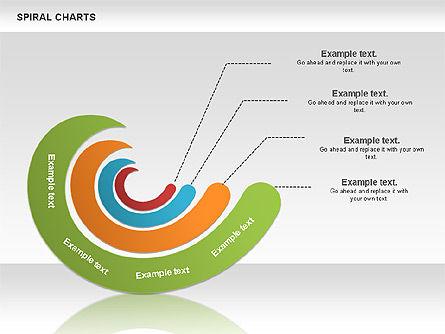 Spiral Shapes Chart, Slide 10, 00969, Business Models — PoweredTemplate.com