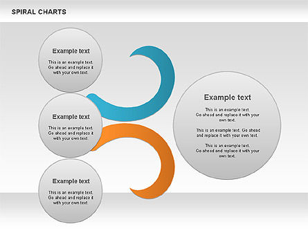 Spiral Shapes Chart, Slide 11, 00969, Business Models — PoweredTemplate.com