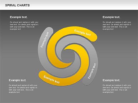 Spiral Shapes Chart, Slide 12, 00969, Business Models — PoweredTemplate.com