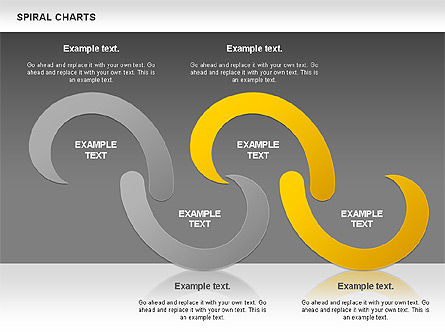 Spiral Shapes Chart, Slide 14, 00969, Business Models — PoweredTemplate.com