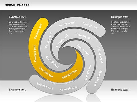 Spiral Shapes Chart, Slide 15, 00969, Business Models — PoweredTemplate.com
