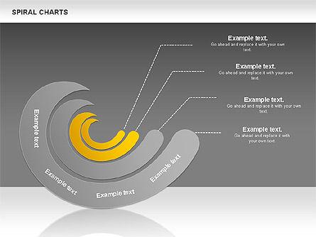 Spiral Shapes Chart, Slide 16, 00969, Business Models — PoweredTemplate.com