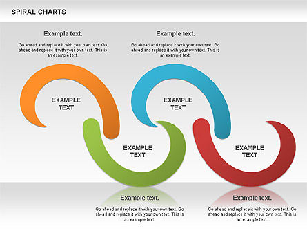 Spiral Shapes Chart, Slide 3, 00969, Business Models — PoweredTemplate.com