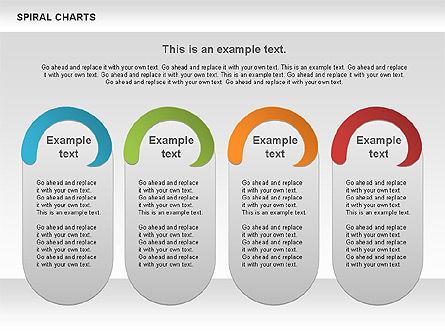 Spiral Shapes Chart, Slide 4, 00969, Business Models — PoweredTemplate.com