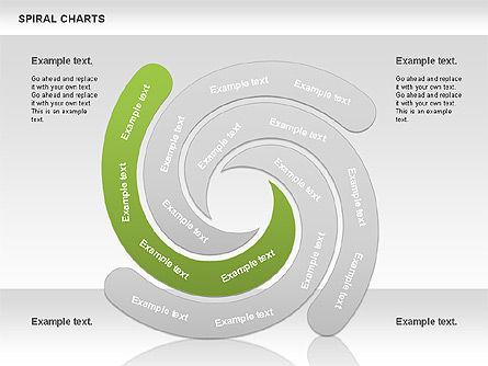 Spiral Shapes Chart, Slide 5, 00969, Business Models — PoweredTemplate.com