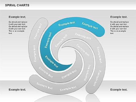 Spiral Shapes Chart, Slide 6, 00969, Business Models — PoweredTemplate.com