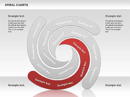 Spiral Shapes Chart, Slide 8, 00969, Business Models — PoweredTemplate.com