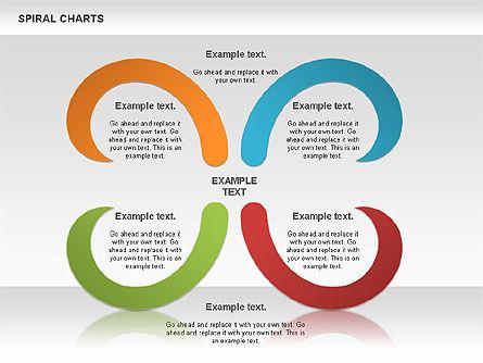 Spiral Shapes Chart, Slide 9, 00969, Business Models — PoweredTemplate.com