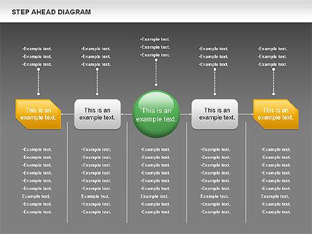 Step Ahead Chart, Slide 15, 00970, Flow Charts — PoweredTemplate.com
