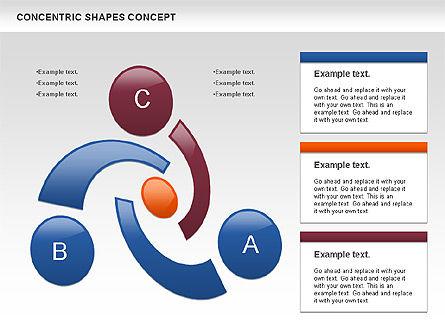 Concentric Shapes Concept, Slide 2, 00972, Business Models — PoweredTemplate.com
