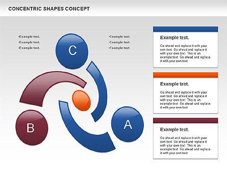 Concentric Shapes Concept, Slide 3, 00972, Business Models — PoweredTemplate.com