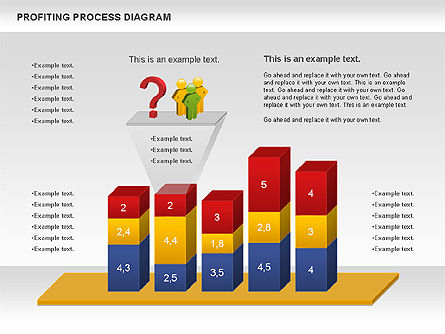 Profiting Process Diagram, Slide 2, 00973, Business Models — PoweredTemplate.com