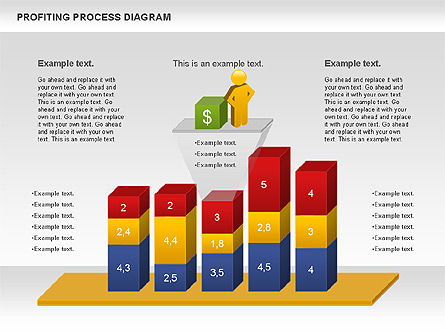 Profiting Process Diagram, Slide 3, 00973, Business Models — PoweredTemplate.com