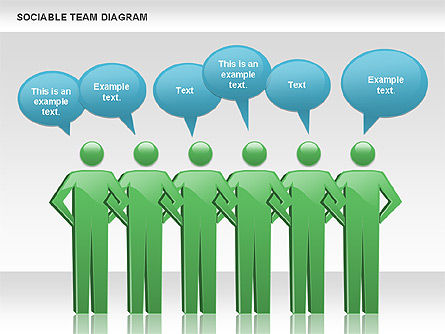 Business Models: Geselliges Team-Diagramm #00975