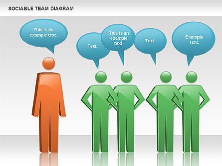 Sociable Team Diagram, Slide 2, 00975, Business Models — PoweredTemplate.com