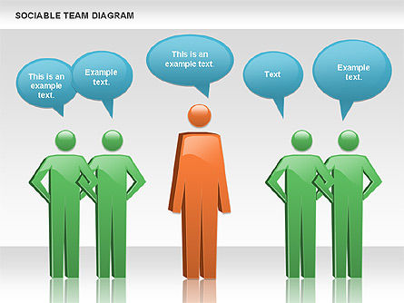 Sociable Team Diagram, Slide 3, 00975, Business Models — PoweredTemplate.com
