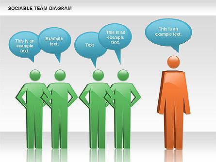 Sociable Team Diagram, Slide 4, 00975, Business Models — PoweredTemplate.com