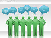 Business Models: Sociable Team Diagram #00975