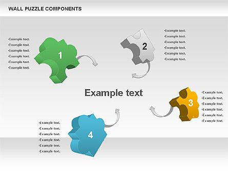 Wall Puzzle Components, Slide 2, 00976, Puzzle Diagrams — PoweredTemplate.com