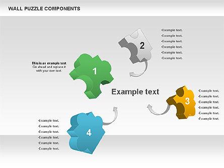 Wall Puzzle Components, Slide 3, 00976, Puzzle Diagrams — PoweredTemplate.com