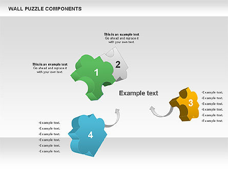 Wall Puzzle Components, Slide 4, 00976, Puzzle Diagrams — PoweredTemplate.com