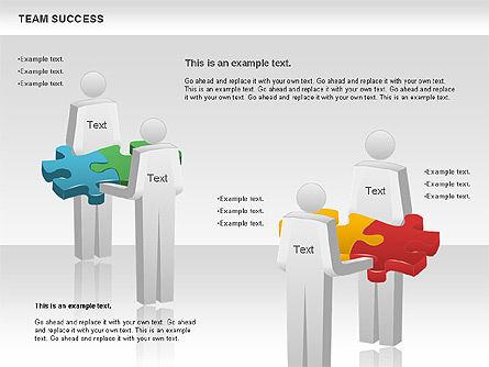 Team Success Diagram, Slide 10, 00977, Puzzle Diagrams — PoweredTemplate.com