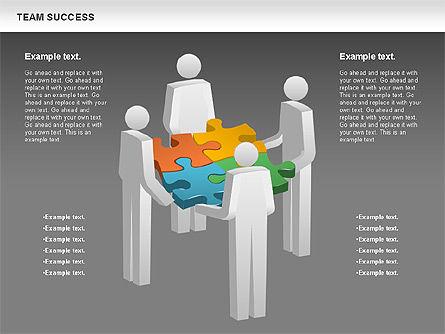 Team Success Diagram, Slide 12, 00977, Puzzle Diagrams — PoweredTemplate.com