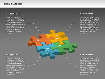 Team Success Diagram, Slide 14, 00977, Puzzle Diagrams — PoweredTemplate.com
