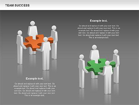 Team Success Diagram, Slide 15, 00977, Puzzle Diagrams — PoweredTemplate.com