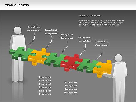 Team Success Diagram, Slide 16, 00977, Puzzle Diagrams — PoweredTemplate.com