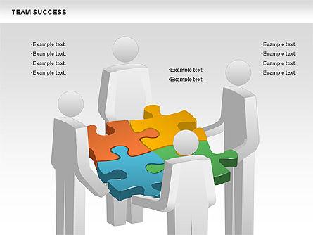 Team Success Diagram, Slide 2, 00977, Puzzle Diagrams — PoweredTemplate.com