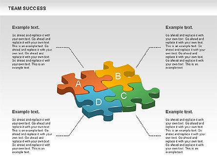 Team Success Diagram, Slide 3, 00977, Puzzle Diagrams — PoweredTemplate.com