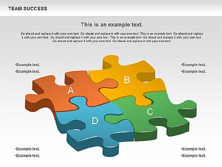 Team Success Diagram, Slide 4, 00977, Puzzle Diagrams — PoweredTemplate.com
