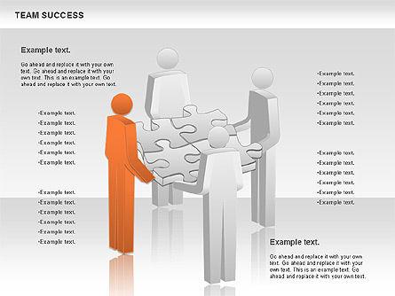 Team Success Diagram, Slide 6, 00977, Puzzle Diagrams — PoweredTemplate.com