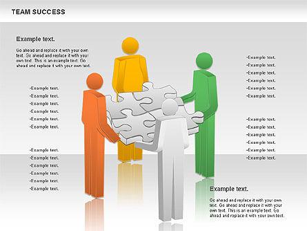 Team Success Diagram, Slide 8, 00977, Puzzle Diagrams — PoweredTemplate.com