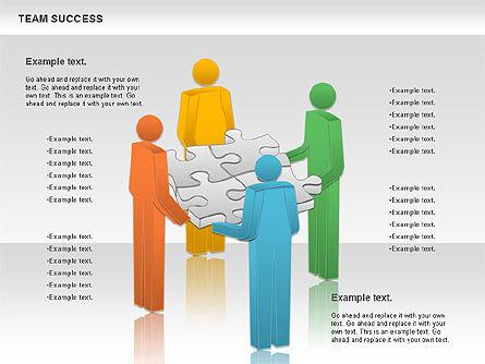 Team Success Diagram, Slide 9, 00977, Puzzle Diagrams — PoweredTemplate.com